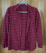 Forever 21 Red Black Plaid 100% Cotton Long Sleeve Shirt Women's Size SMALL