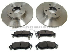 VAUXHALL AGILA 1.0 1.2 00-08 FRONT 2 BRAKE DISCS & PADS CHECK SOLID DISCS ONLY