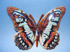 """Home Garden Pool Yard Small *Butterfly Wall Decor* Brown Multi 6.5"""" X 5"""" New"""