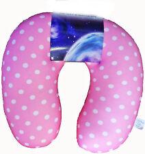 Microbead BABY PINK Dot Collo Cuscino Da Viaggio Cuscino Testa bassa schiena all'aperto