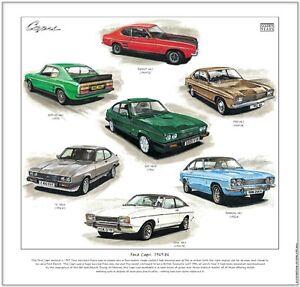 FORD CAPRI 1969-86 - Fine Art Print - 'S' 3000GT 3000GXL Ghia RS3100 280 Mk1 2 3