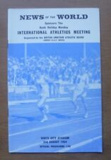 International Athletics Meeting (White City Stadium) Programme, 03/08/1964.