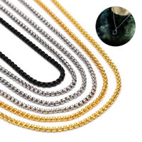 Fashion 3MM Stainless Steel Keel Chain Necklace Men Women Necklace Jewelry Gif3C