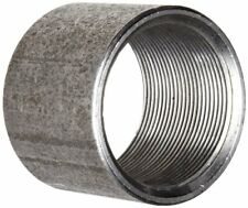 "Anvil 8700158259, Steel Pipe Fitting, Coupling, 1-1/2"" NPT Female, Black Finish"