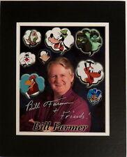 Disney Autographed Photo Signed Bill Farmer Voice of Goofy Pluto Sleepy & More