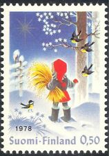 Finland 1978 Christmas/Greetings/Children/Birds/Animation 1v (s143b)