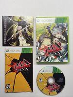 P4A Persona 4: Arena (Microsoft Xbox 360, 2012) Complete w/ Sealed Soundtrack?!!
