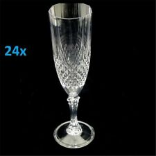 24 Premium Clear Plastic Disposable Champagne Flutes Wine Drink Glasses