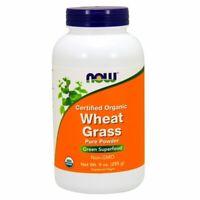Organic Wheat Grass 9oz POWDER by Now Foods