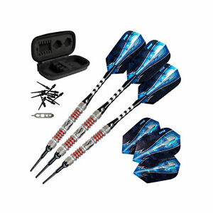Viper Astro Tungsten Soft Tip Darts 18g with Travel Case, Red Rings