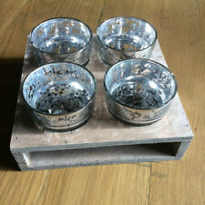 Wooden French Country Tabletop Candle & Tea Light Holders