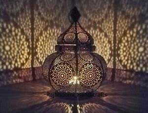 Moroccan Turkish Lamp Vintage Candle Holder Outdoor Candlestick Table Lantern