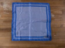 TOM FORD blue houndstooth motif silk pocket square authentic - NWOT