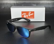 RAY BAN RB2132 622 17 New Wayfarer Rubber Black Grey Blue 55 mm Men's Sunglasses
