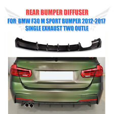 Carbon Fiber Rear Diffuser Single Outlet For BMW F30 3Series M Tech /Sport 12-17