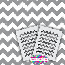 """Chevron Zig Zag Stencil ** 2 INCLUDED ** LARGE 12""""x9"""" Craft Airbrush Wall"""
