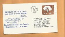 DOUGLAS YC-15 STOL SHORT TAKOFF & LANDING TRANSPORT JUL 29,1976 EAFB FLIGHT 74