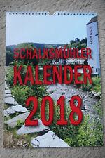 Schalksmühler Fotokalender 2018 mit den Veranstaltungsterminen in der Gemeinde