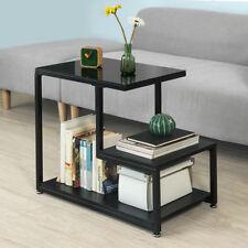 Sobuy Bout de Canapé table D'appoint Tables basses avec 3 Étagères Fbt65-sch FR