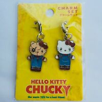 HELLO KITTY x CHUCKY Charm Set CHILD'S PLAY Sanrio 2015 UNIVERSAL STUDIOS JAPAN