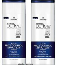 Lot of 2 Schwarzkopf Essence Ultime Satin Frizz Control & Protect Shampoo 13.5oz