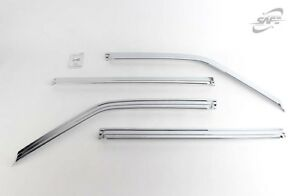 SAFE Chrome Weather shields 4pcs  for 2002 - 2006 Ssangyong Musso Sports