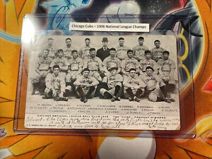 1906 CHICAGO CUBS National League CHAMPIONS ORIGINAL TEAM PHOTO POST CARD Stamp
