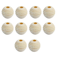 50pcs 12mm Natural Unpainted Wooden Spacer Beads Ball for Jewelry Making DIY