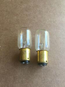 Lot of 2 Feit 15T7 DC bayonet clear Dual Contact 120 volt 15W Appliance bulb