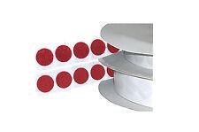 32 Stk. Klettpunkte Flausch+Haken Rot ( = 16 Sets) Selbstklebend Ø 20mm - KP 08