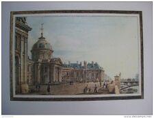 reproduction gravure vue du palais des beaux arts Paris 1754 - 1826