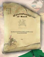 Martial Arts Certificates - Bushido Design/Karate Rank Certificates - Pack of 5
