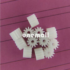 20pcs Plastic Spur Gear 0.5 Modulus T 10 Aperture 2mm DIY Model Accessories 10t