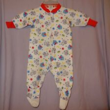 Pajamas Long Footed One Piece Puppy Dogs House Size 1T  12 Months Boys Polyester