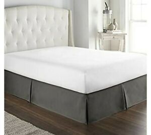 Bed Skirt Twin Size Luxury Hotel Collection charcoal gray