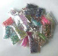 New DIY 2000pcs Mix Facets cut Resin Rhinestone Gems Flat Back Crystal beads
