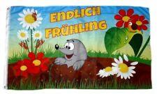 Flagge / Fahne Endlich Frühling Hissflagge 90 x 150 cm