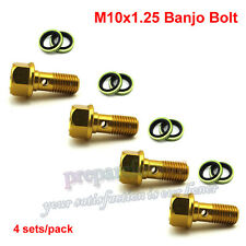 M10x1.25 Banjo Bolt For ATV GoKart Moped Scooter Brake Oil Cooler Pit Dirt Bike