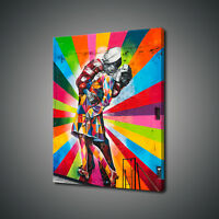 STREET ART NEW YORK V-J DAY KISS MOUNTED CANVAS PRINT WALL ART PICTURE PHOTO