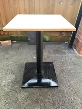More details for 12 x heavy duty contract restaurant bar cafe cast iron table base and tops