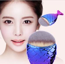 Fashion Women Fish Scale Makeup Brush Mermaid Bottom Brush Powder Blush 7color