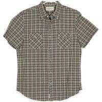 Ralph Lauren Denim Supply Mens Western Shirt Size L Pearl Snap Flannel Plaid S/S