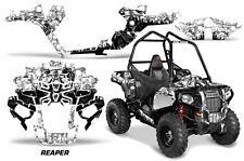 "Polaris Sportsman ""ACE"" ATV Graphic Kit Wrap Quad Accessories Decals REAPER WHT"