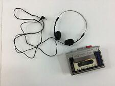 Vintage Panasonic AM/FM Radio Works Bit Talkman II Earphones Cassette Recorder