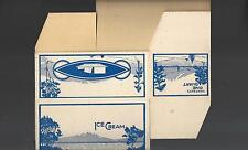 Vintage Generic Unused 1 Quart Ice Cream Carton 1950's? New Old Stock