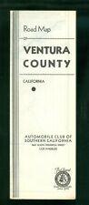 1930s AAA Road Map Ventura County CA