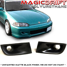 For 92-95 Honda Civic EG EG6 Front Bumper JDM Air Duct Vent Urethane Black JS