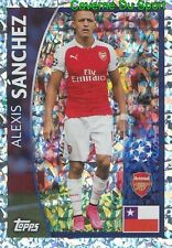 370 ALEXIS SANCHEZ CHILE ARSENAL FC METAL STICKER CHAMPIONS LEAGUE 2016 TOPPS
