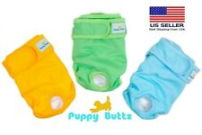 Puppy Buttz Washable, Reusable Dog Diapers, Medium. Pack of 3