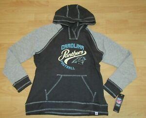 Carolina Panthers Fan Fashion Rough Cut V-neck Hoodie Jacket size Women's Large